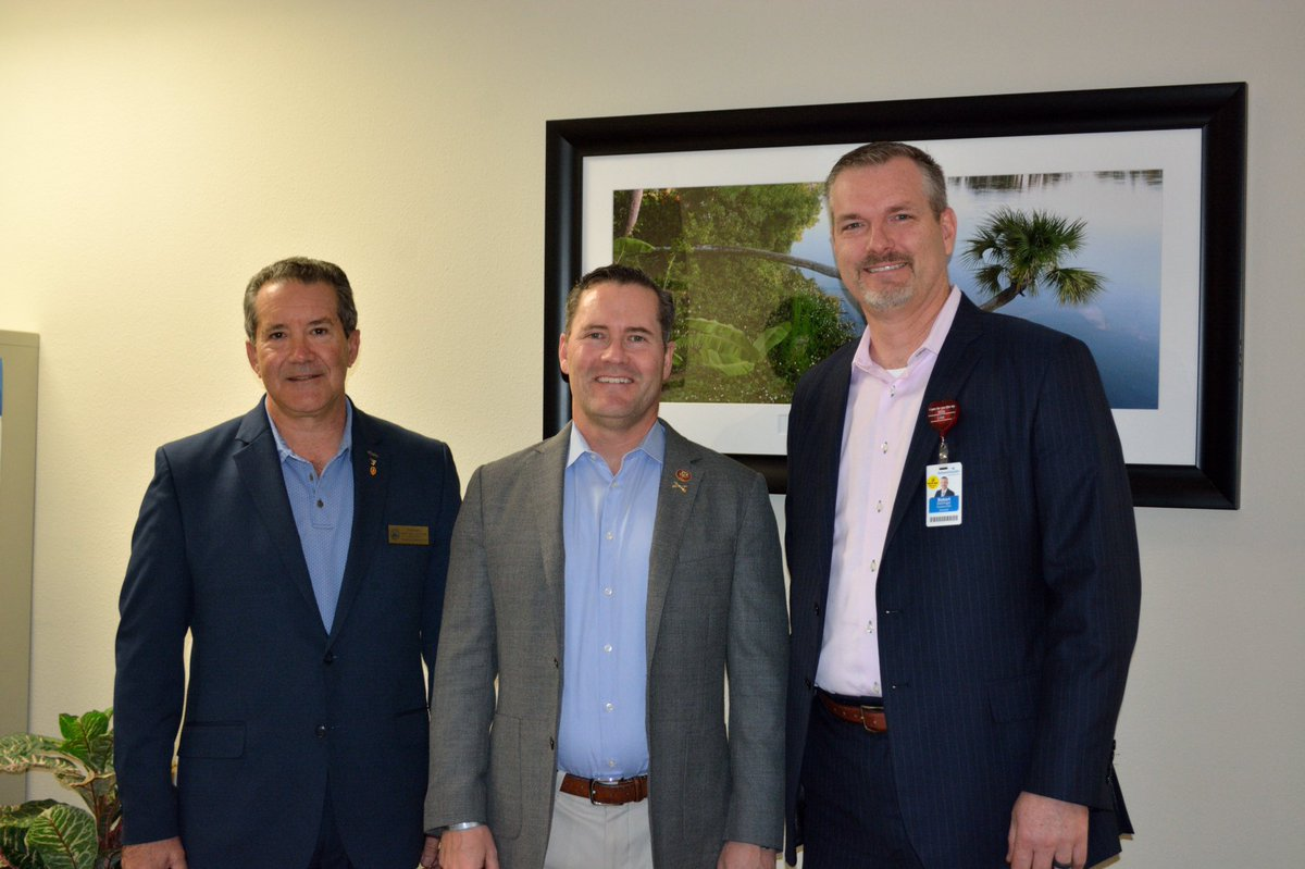 It was great to host US Congressman @RepMichaelWaltz    today @AdventHealthCFL #fishmemorial He met with our board and discussed healthcare policy and issues and then toured to meet our great staff. Thank you for your service to our country! #feelwhole