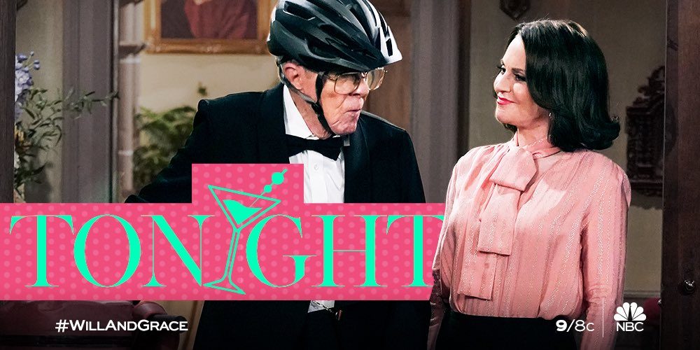 """Hi, guys. Cuddle up on the couch with us. We're serving up an all NEW episode of """"Will & Grace"""" tonight at 9/8c.  #WillandGrace"""