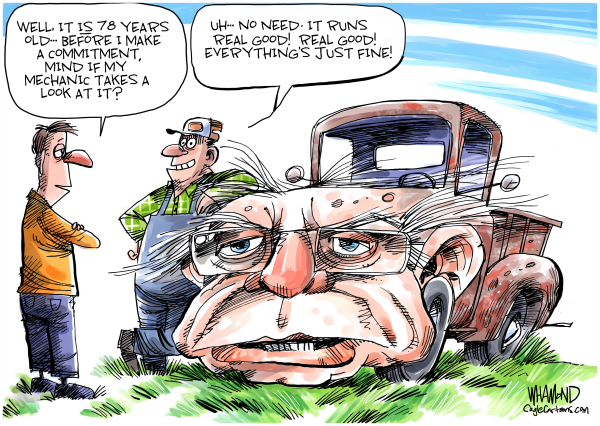 Toon in Thursday - A look at the world Thursday through the eyes of political cartoonists from across the globe - Sentinel Colorado  #COpolitics #Cartoons #BillBarr #TrumpTweets #TrumpPardons #2020Democrats #FeelTheBern #MikeBloomberg