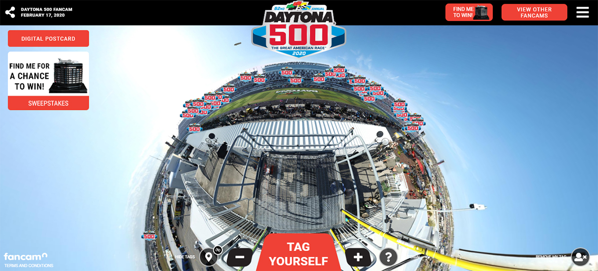 Have you found the hidden Harley J. Earl DAYTONA 500 Perpetual Trophy in our 2020 #DAYTONA500 @Fan_Cam? If so, you could win tickets to the 2021 DAYTONA 500! 📷➡️