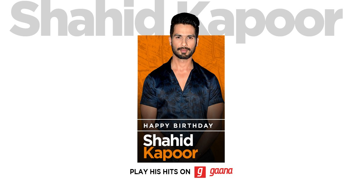 'Bekhayali' mein bhi unhika khayal aata hain! Wishing the 'Kabir Singh' of Bollywood, @shahidkapoor, a very happy birthday! Listen to his biggest hits, here on Gaana:   #HappyBirthdayShahidKapoor