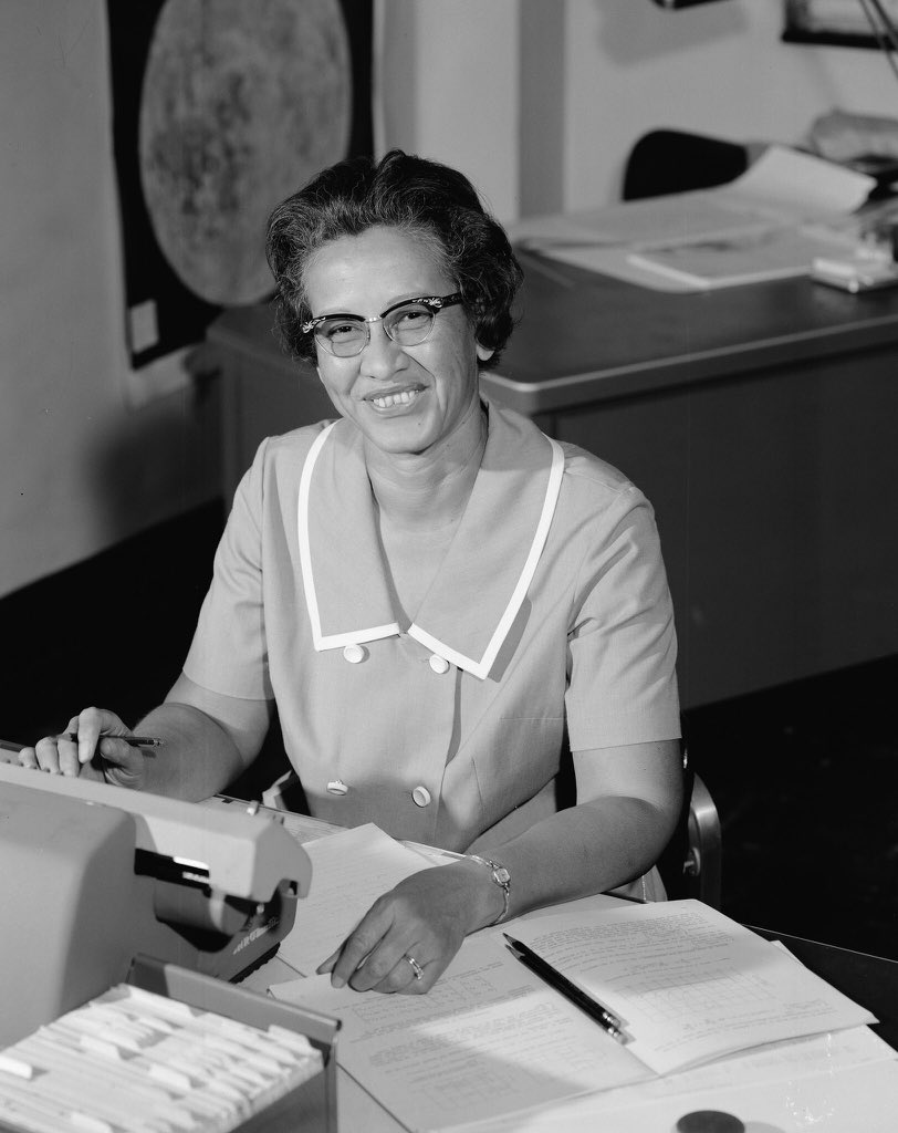Katherine Johnson, NASA mathematician depicted in 'Hidden Figures,' has died today at 101. Her calculations were a driving force behind sending Apollo 11 to the moon. We send our deepest condolences to her family and those affected by her passing. 💕