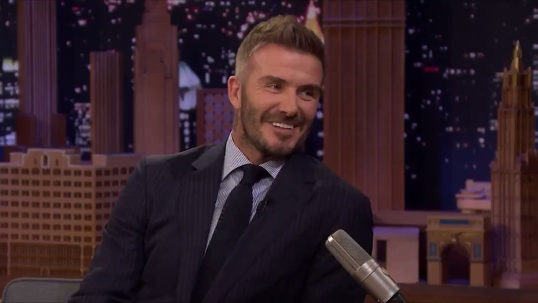 David Beckham addresses rumors that he is recruiting @Cristiano & Lionel Messi for #InterMiamiCF #FallonTonight