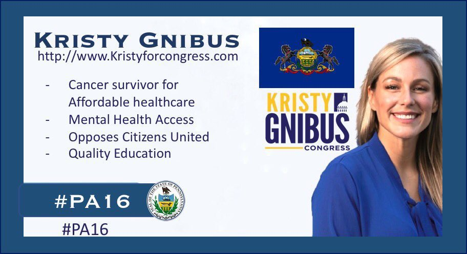 .@kristy4congress #PA16 will work in DC to protect western PA's families and values  Mike Kelly's record of voting with corporations, greedy CEOs and the wealthy is unacceptable   Western Pennsylvania deserves better than this!  #GOTV Kristy Gnibus for a stronger Pennsylvania