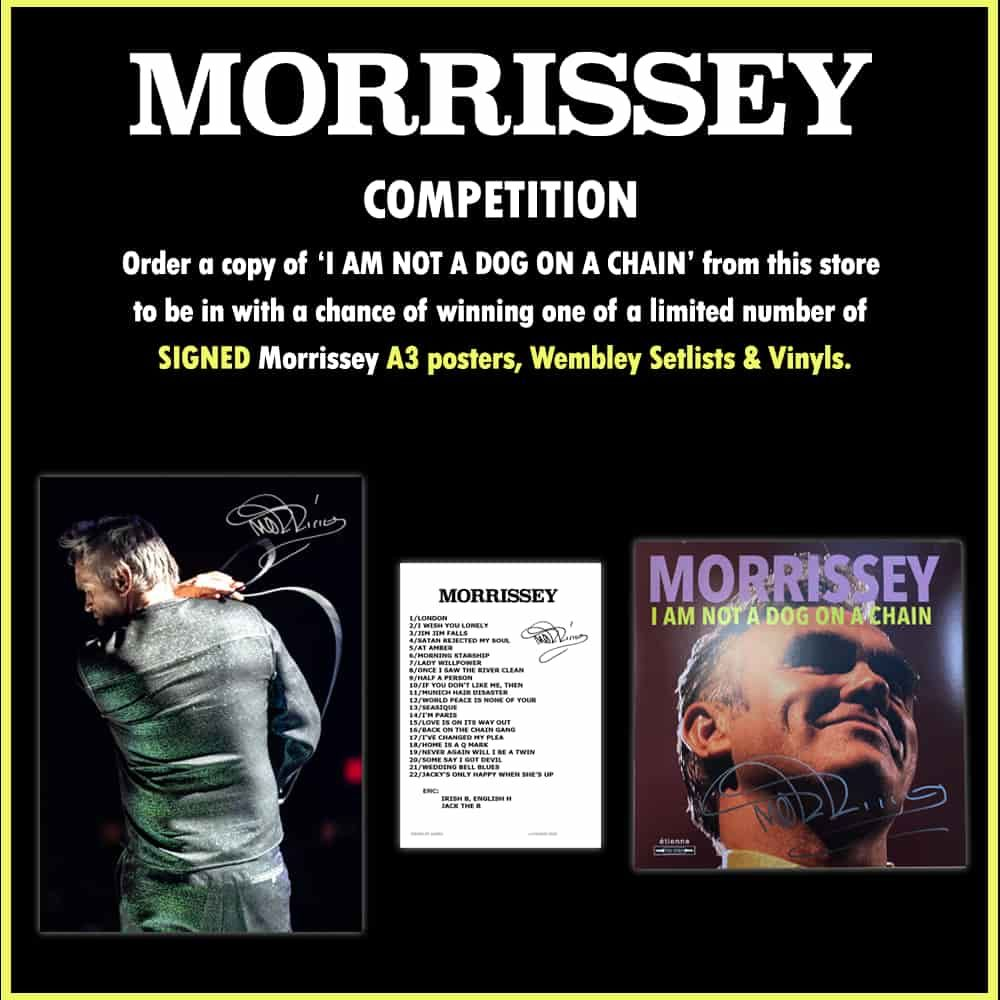 MORRISSEY // COMPETITION  👉   If you have already ordered the album from our store you will be automatically entered into this competition 🙌