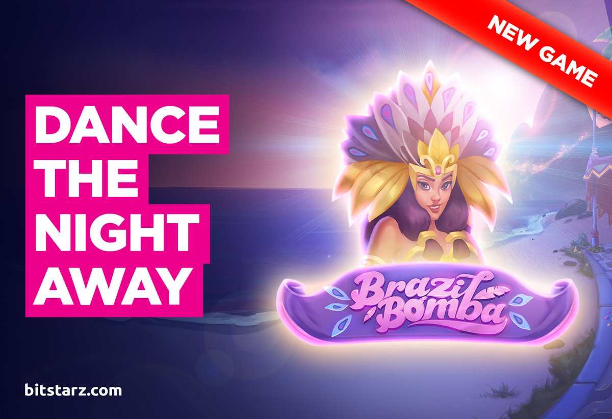 Dance the night away in the heart of the carnival as you #spin the #reels in Brazil Bomba #slot. Brand-new from @YggdrasilGaming  #BrazilBomba #NewGame #GameGuide #OnlineSlots #SlotGames #OnlineCasino #BitcoinCasino #Bitstarz