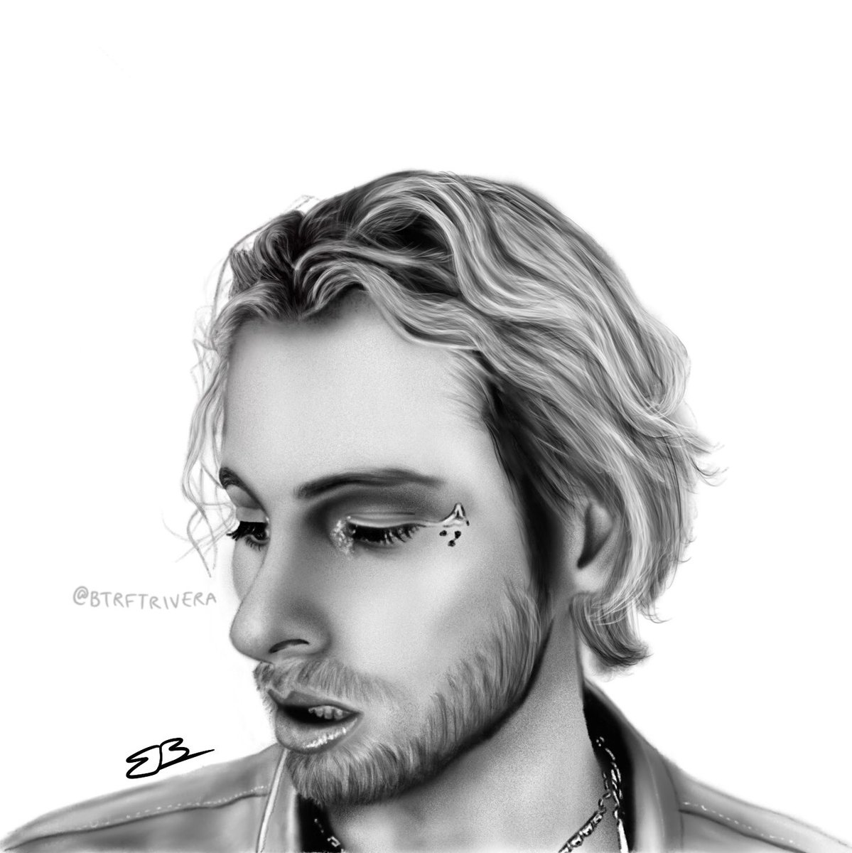 Took only 4 hours cuz it was a smaller picture but I finally finished it! Let me know what you think! 🥺❤️ @Luke5SOS @5SOS  #5sos #CALM #5sosCALM