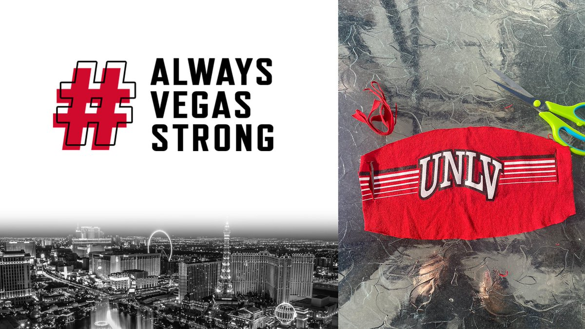 NEWS: @UNLVAthletics To Create & Supply Cloth Masks To @UMCSN, Thanks To Support Of @Nike & @AAFforE 👕✂️   Details:    #AlwaysVegasStrong #BEaREBEL #DoGoodFromHome