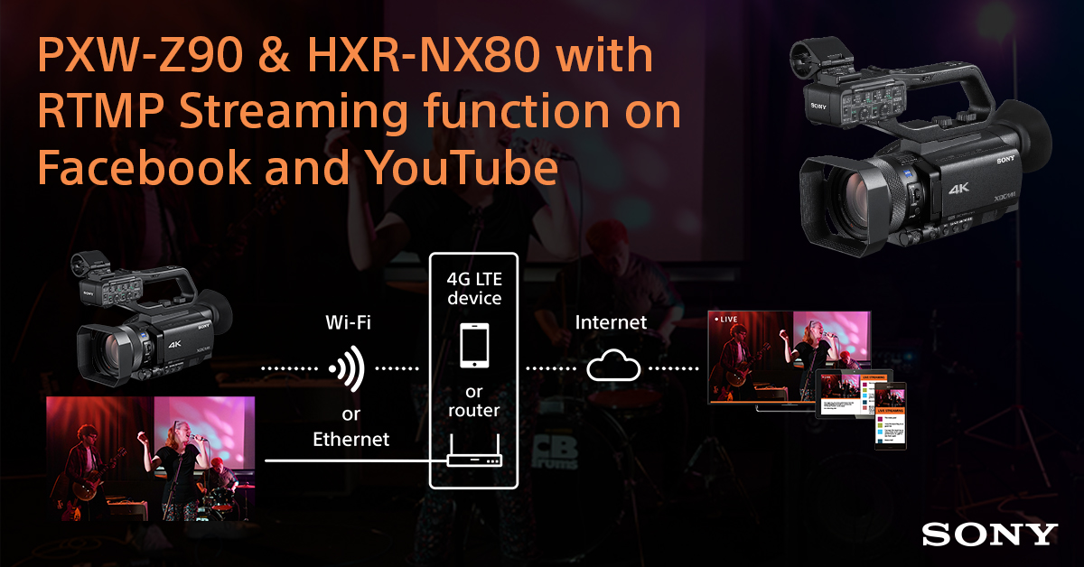 RT @sonyproeurope: New Free Firmware for PXW-Z90 & HXR-NX80 that enables RTMP streaming to major social platforms such as Facebook and YouT…
