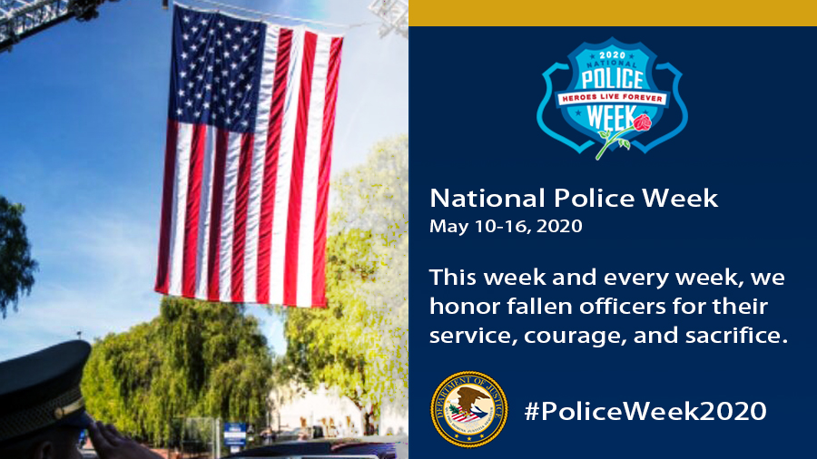 This week and every week, we honor fallen officers for their service, courage and sacrifice. #PoliceWeek2020 #LODD