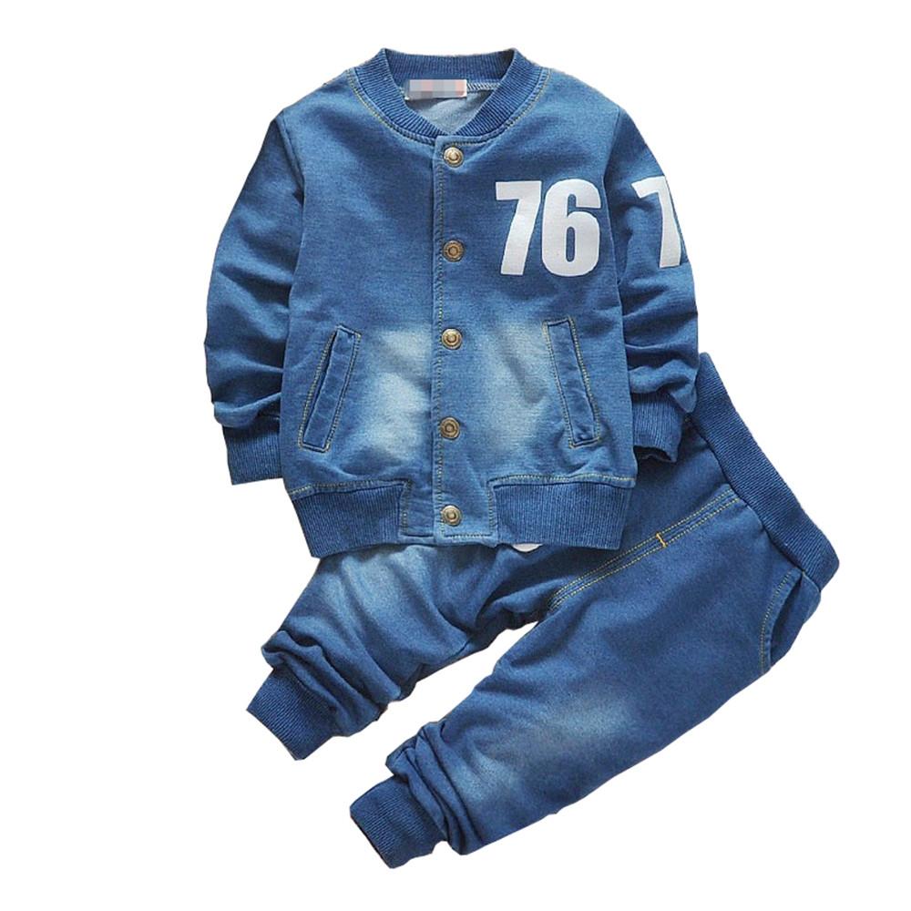 #motherhood #cutebaby #children Fashion Casual Denim Boy's Clothing Set...