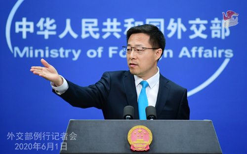 """""""Black lives matter and their human rights should be guaranteed,"""" said #China's FM spokesperson on Monday, urging U.S. to eliminate racial discrimination, protect minorities"""