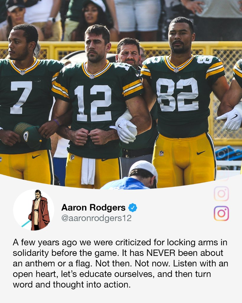 .@AaronRodgers12 speaks out.