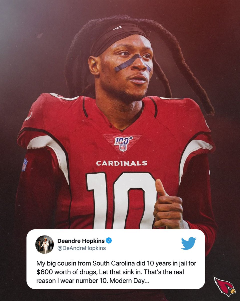 Wow 💯 @DeAndreHopkins   (🎨: @AZCardinals)