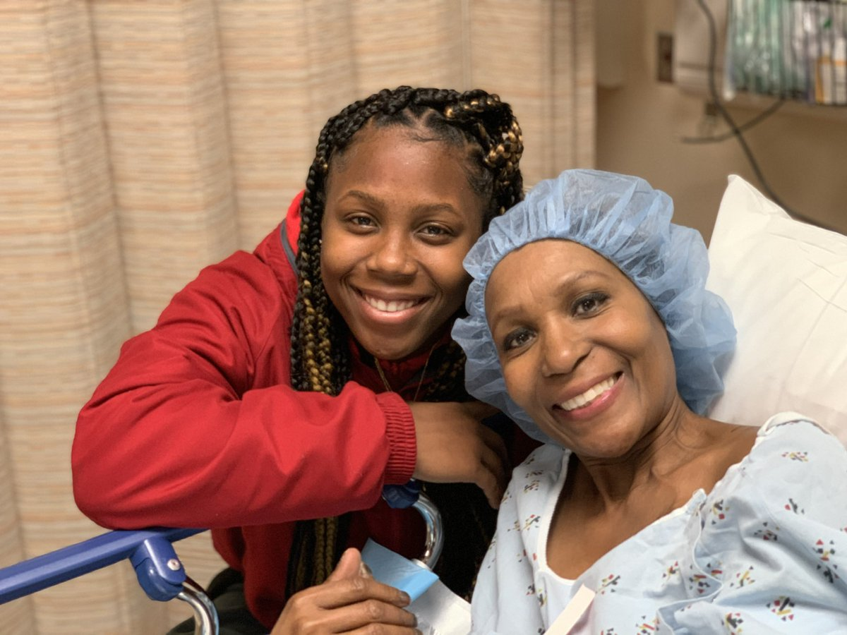#NationalCancerSurvivorsDay she ain't a survivor just yet but she been onna journey wit this and she almost done‼️ i love this lady onna real my bestfriend, she doing good rn n ik she finna beat the odds fr❤️