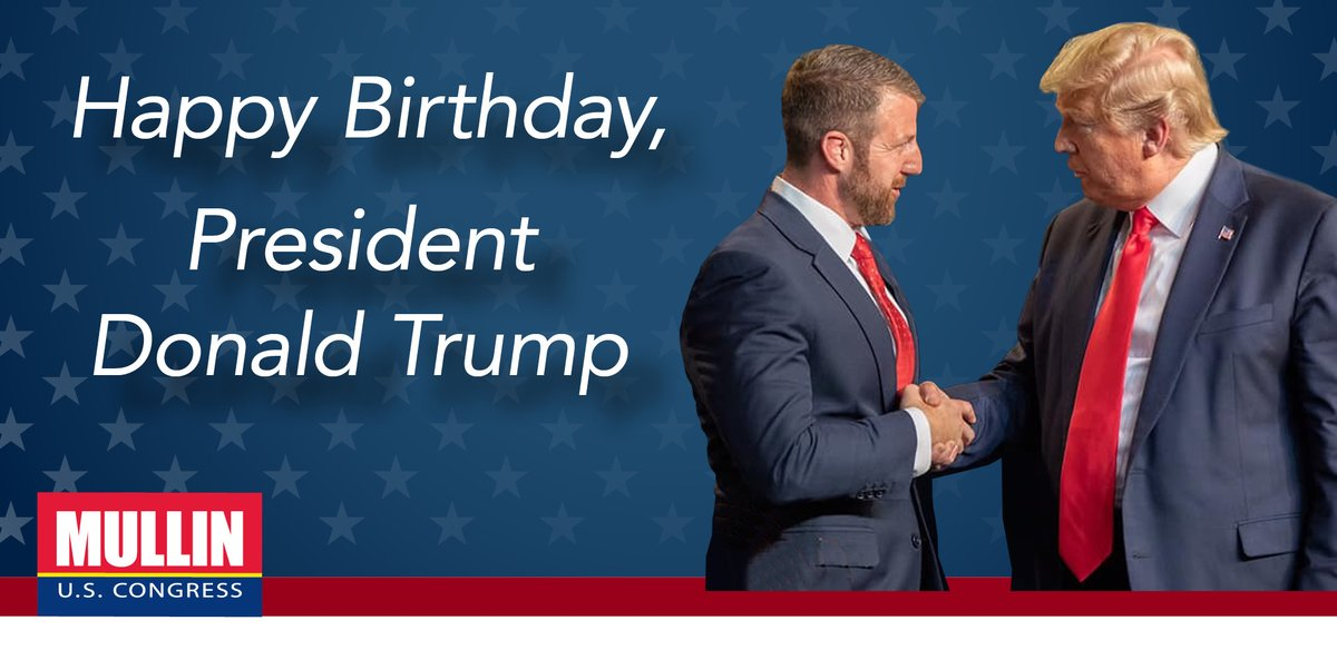 I'm proud to stand with President Trump. Knowing him, he's hard at work on his birthday to Make America Great Again. Thank you, @realDonaldTrump, and best wishes for another year. We'll see you in Tulsa on Saturday!