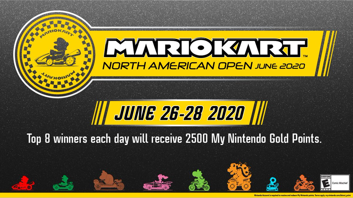 The #MarioKart8Deluxe North American Open June 2020 tournament kicks off this weekend! Have you hit the tracks to practice yet? Don't forget to check the link below for details on how to enter and race for 2,500 My Nintendo Gold Points.