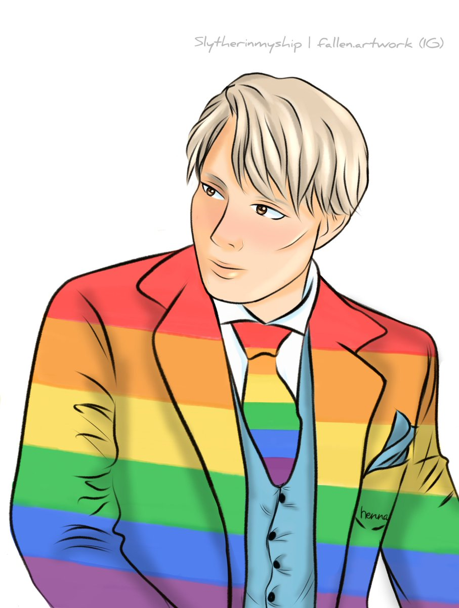 #murderhusbands #hannigram #anime #SaveHannibalS4 #hannibal #art   I just wanted to draw something for #PrideMonth and ended up making Hannibal in a 🌈 suit & tie Do you like it or is it too much? L or R?  I'm confused lol I just went with the flow
