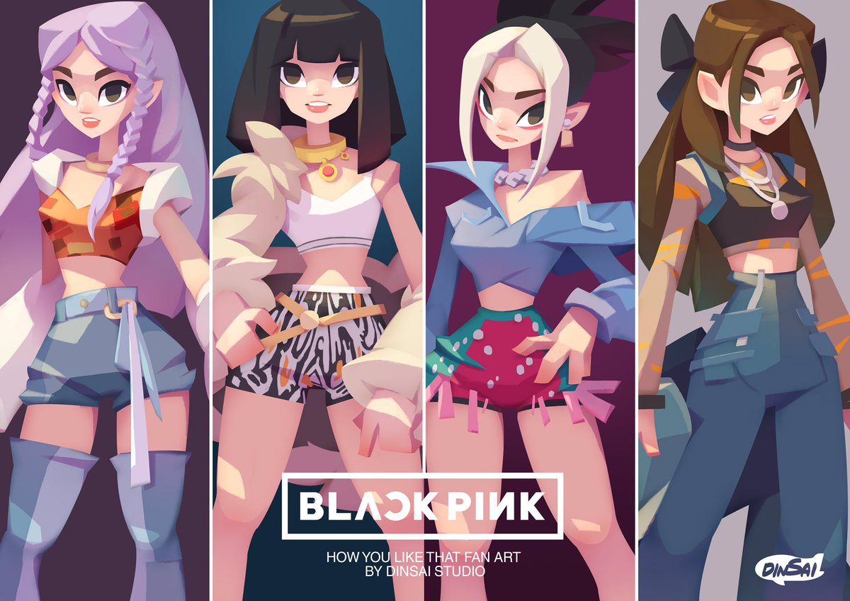 [ BLACKPINK :HOW YOU LIKE THAT Character Design Fan Art] Dinsai Studio 2D fan art #BLACLPINK #blackpinkhowyoulikethat #HowYouLikeThatMV #HowYouLikeThatLisa #HowYouLikeThatJisoo #HowYouLikeThatrose #HowYouLikeThatJennie