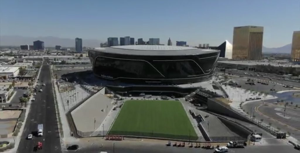 Allegaint Stadium sitting at 98% complete and on track for July 31 substantial completion date. Team expects to have an occupancy permit which would allow the public use of the stadium by Aug. 1, per Don Webb. #vegas #raiders #stadium