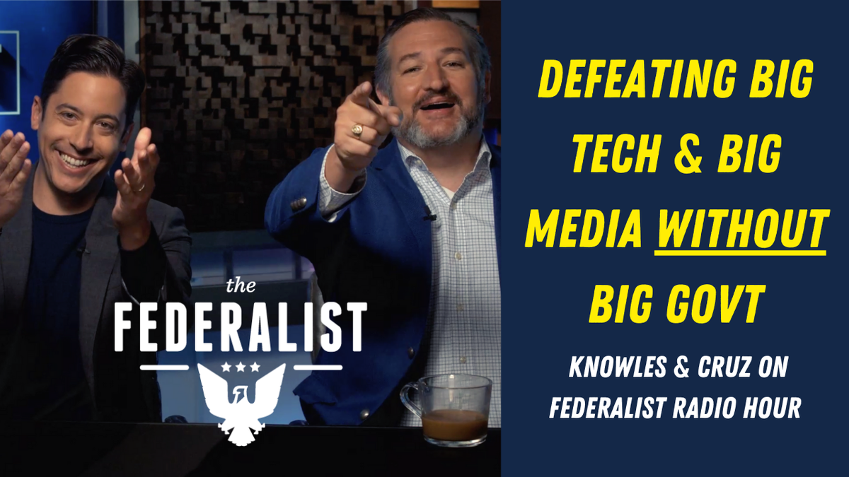 PREMIERE ALERT: Tomorrow at 10:00 am EST @tedcruz & @michaeljknowles explain how conservatives can defeat Big Tech and Big Media without Big Government. Tune in here: