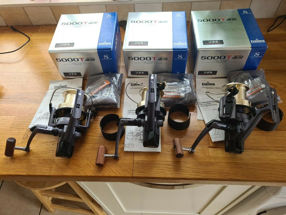 Ad - 3x Daiwa 5000T Tournament-S reels On eBay here -->> https://t.co/1MypohYYX8  #carpfishing