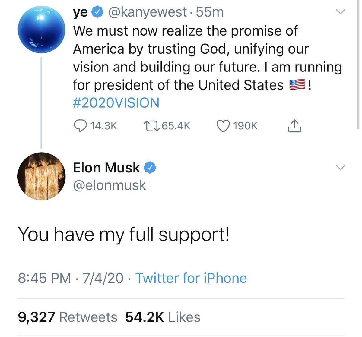 Kanye West and Elon Musk are treating the most consequential election of our lifetime as a joke - consequences their money will shield them from.  We're sick of being trolled by oversized egos.  Step up in a meaningful way to help us defeat Trump or sit down quietly.  #2020Vision