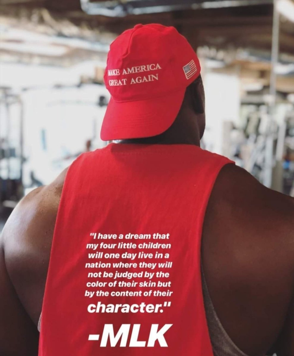 If you judge & denigrate me as a coon, an Uncle Tom, a house nigger, etc. for simply wearing a MAGA hat as a black man, then MLK's dream will only ever be fantasy, and never a reality.  My hat does not define me any more than does the color of my skin.