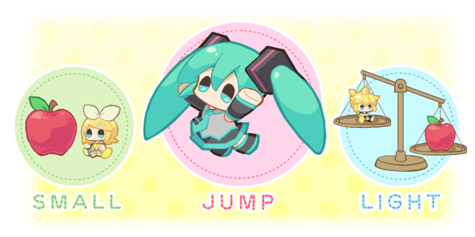 "In the game ""Hatune Miku Amiguru Jump"", Miku and her friends will appear as ""amigurumi"".✨ Amigurumis are small, light, and good at jumping!💫 #HatsuneMiku #MIKUJUMP"