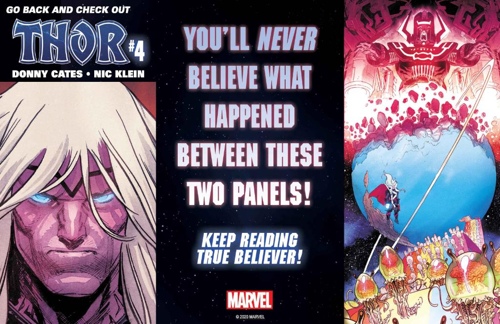 """You'll never believe what happened between these two """"Thor"""" #4 panels."""