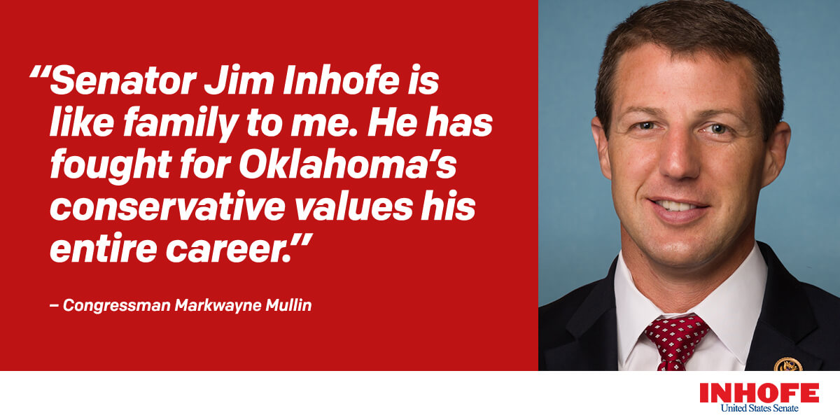 Thank you my friend. Oklahoma is better because of Congressman Mullin. We will continue to support President Trump and fight for Oklahoma together!