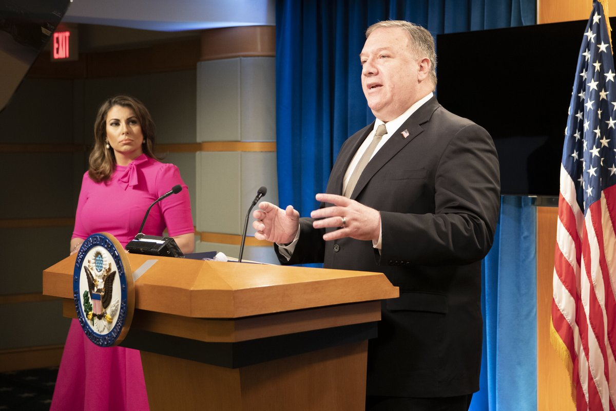 .@SecPompeo: The Chinese Communist Party today has made a decision; it wants to be an imperialist power and wants to be authoritarian in nature. President @realDonaldTrump's policies are aimed squarely at reversing that.