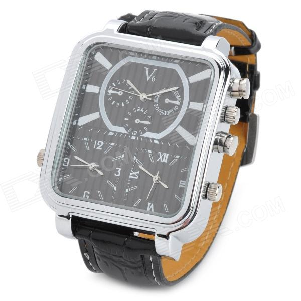 test Twitter Media - #discount #deal Mode man pu band Three-time weergave Quartz Analoog Waterdicht horloge - zwart (1 x 377) https://t.co/0geartGZqq https://t.co/cETRWxbTXC