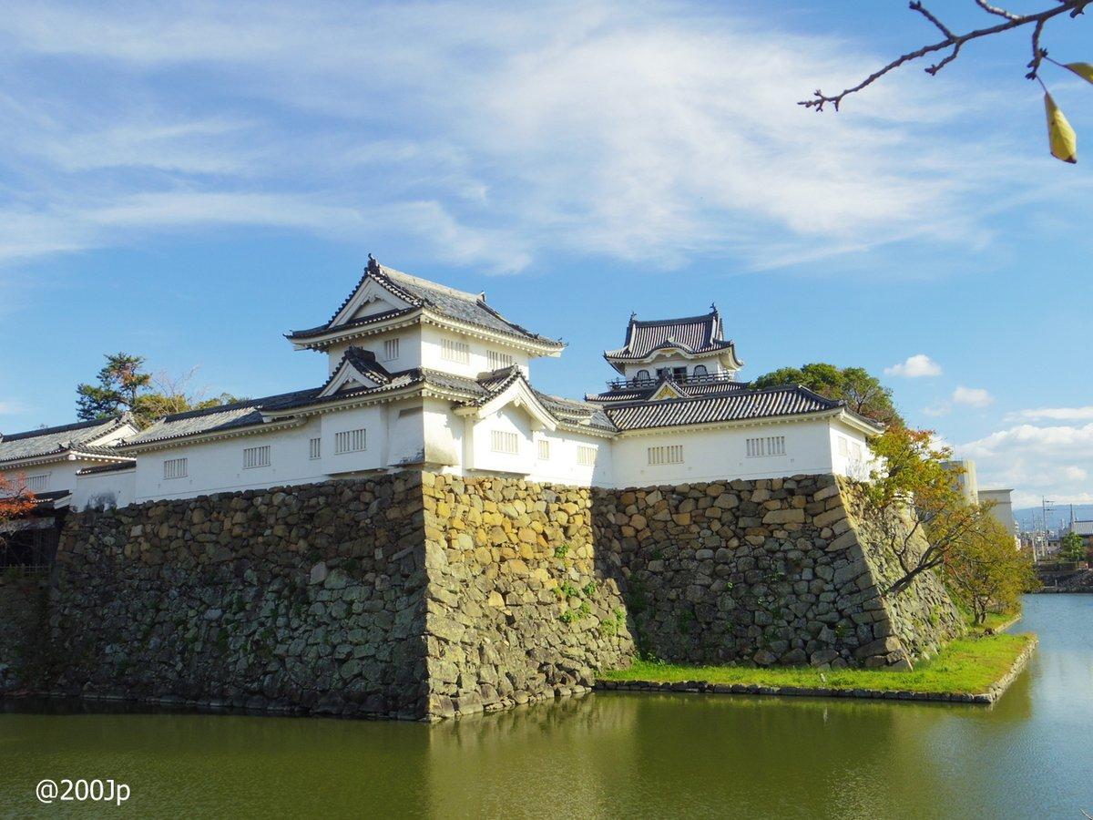No.161 Kishiwada-jo #castle Stone Fence, Moat, Yagura-mon Gate etc. 岸和田城石垣、堀、櫓門 天守からの眺め  #kishiwada