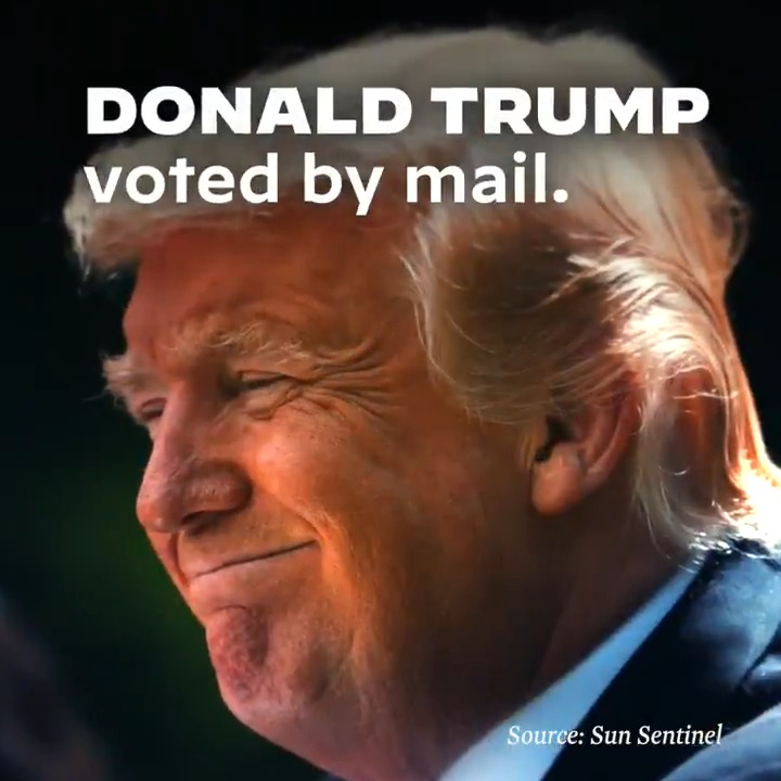 Let me be clear: If vote-by-mail is good enough for Donald Trump and his administration, then it's good enough for all of us.