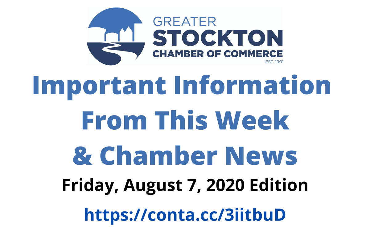Don't miss the Important Information From This Week & Chamber News, Friday, August 7th Edition. Get caught up on the latest COVID-19 and Chamber news! Click the link below to read it.