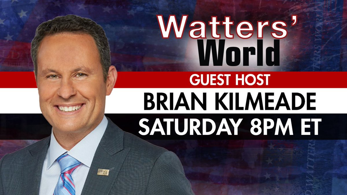 TOMORROW: @kilmeade guest hosts Watters' World!! Brian will have must-see interviews with @KellyannePolls and more. Don't miss it. #FoxNews 8PM ET.