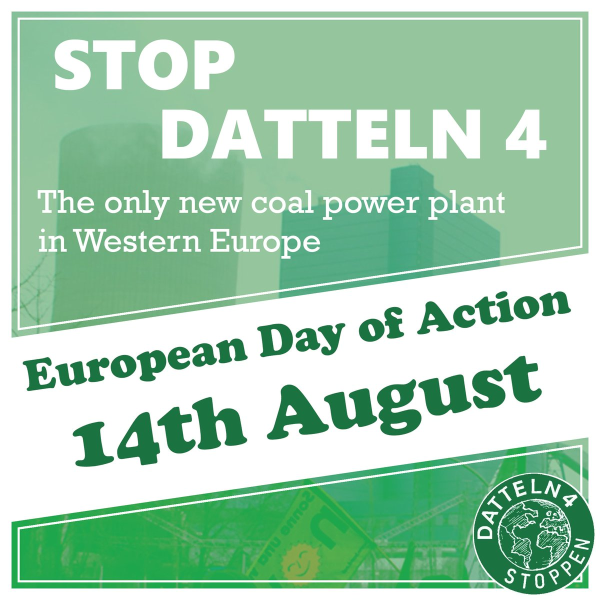 🌍EUROPEAN DAY OF ACTION🌍  💢14TH AUGUST!💢SAVE THE DATE!💢  💚#XR, #YFC, @GreenpeaceSuomi & #FFF💚 Will Take Action!✊ UNITED To Change Climate Policy In Europe🌍 Rescue Our Future!  ↪#STOPDATTELN4!  @Fortum_Oyj: #jointhechange #FortumIrtiFossiilisista  #StopUniper #Datteln4