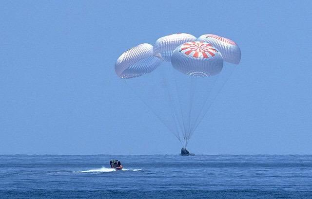 Welcome home, @NASA Astronauts Bob & Doug! #whereexcellencelives