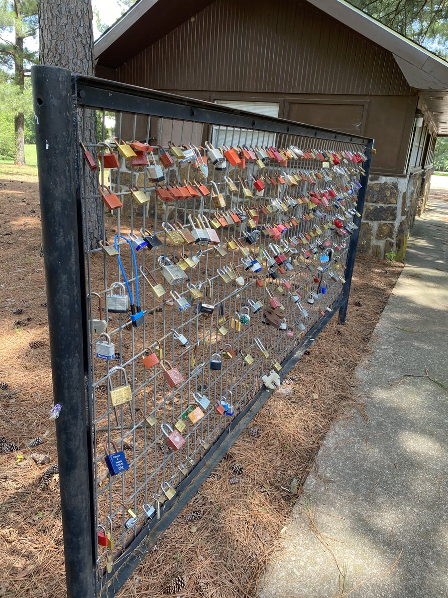 Hey, all you romantics! Did you know that Lake Eufaula has a Love Lock Fountain? At this unique installation, couples engrave their initials on a padlock, attach it to the sculpture, then throw the key into the fountain.   ❤️ 🔒   #OKStateParks