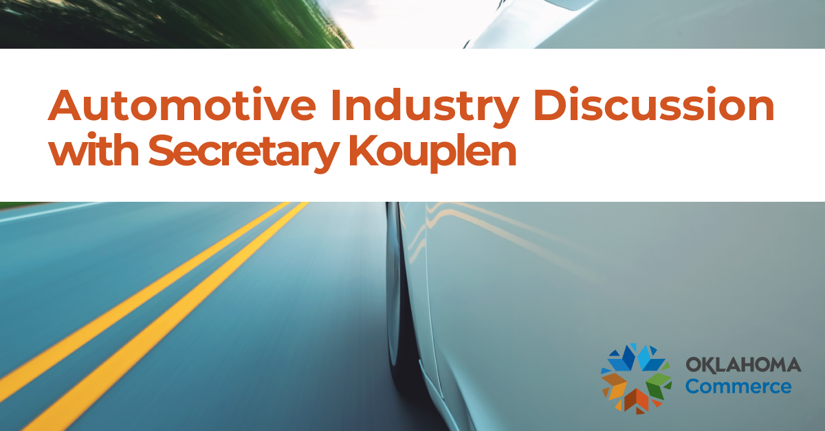 Want to learn more about Commerce's new automotive program? Join Secretary Sean Kouplen this Thursday, Aug. 6,  at 9 am for a discussion of the new plan and the Tesla project experience.