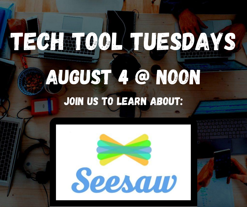 Each Tue, we are offering free PD related to commonly used education technology tools. #oklaed  This week's featured tech tool: @Seesaw. Join us TOMORROW, August 4, at noon!  View additional info & registration links here:
