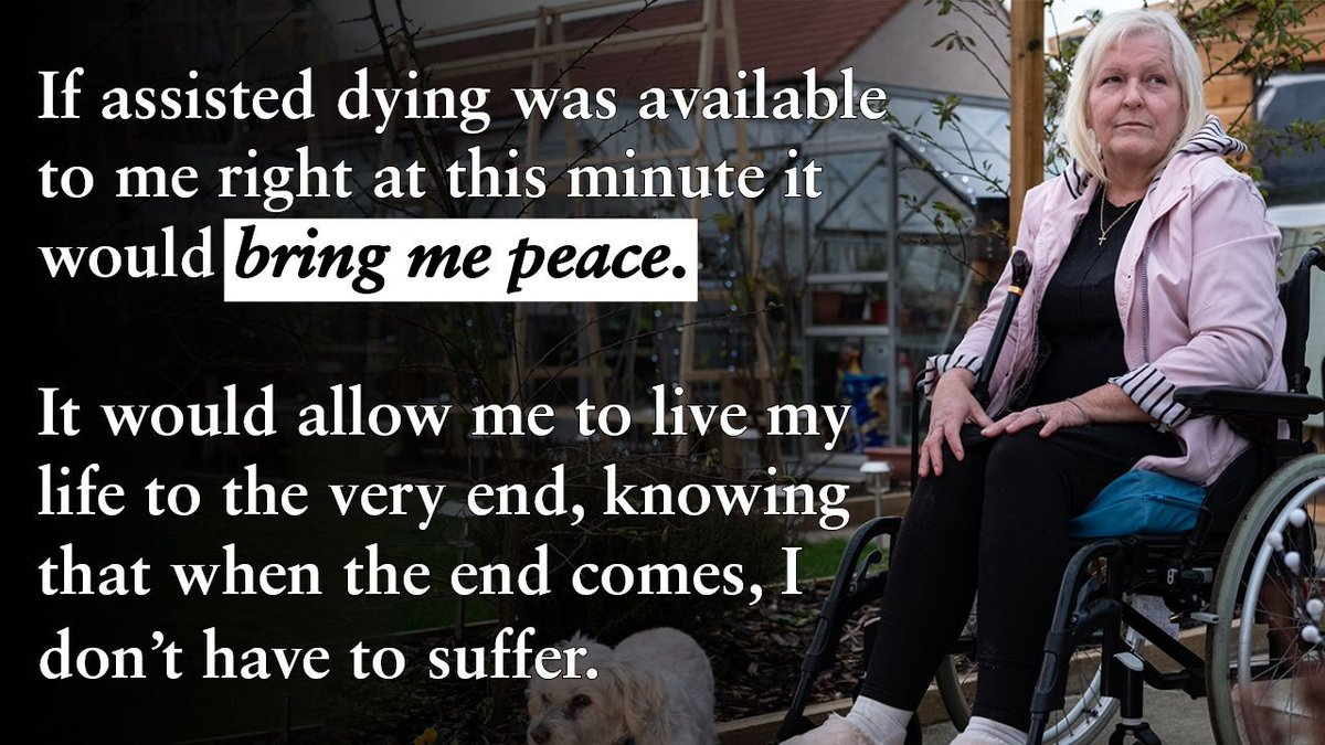 Kay is severely allergic to antibiotics and faces a painful death from sepsis.  She spent her life caring for others as a Palliative Care Nurse.  She deserves the choice of a dignified death.