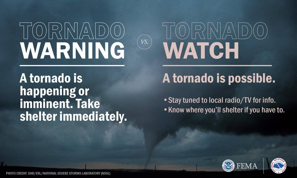 TORNADO WATCH | The NWS has issued a tornado watch for Baltimore County  until noon today. ^TF