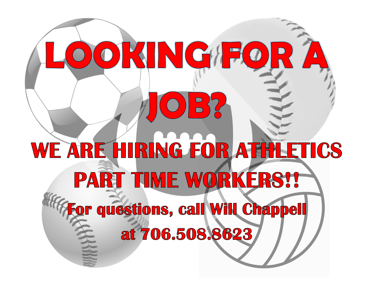 We are hiring for youth and adult athletics!  Click the link to apply: