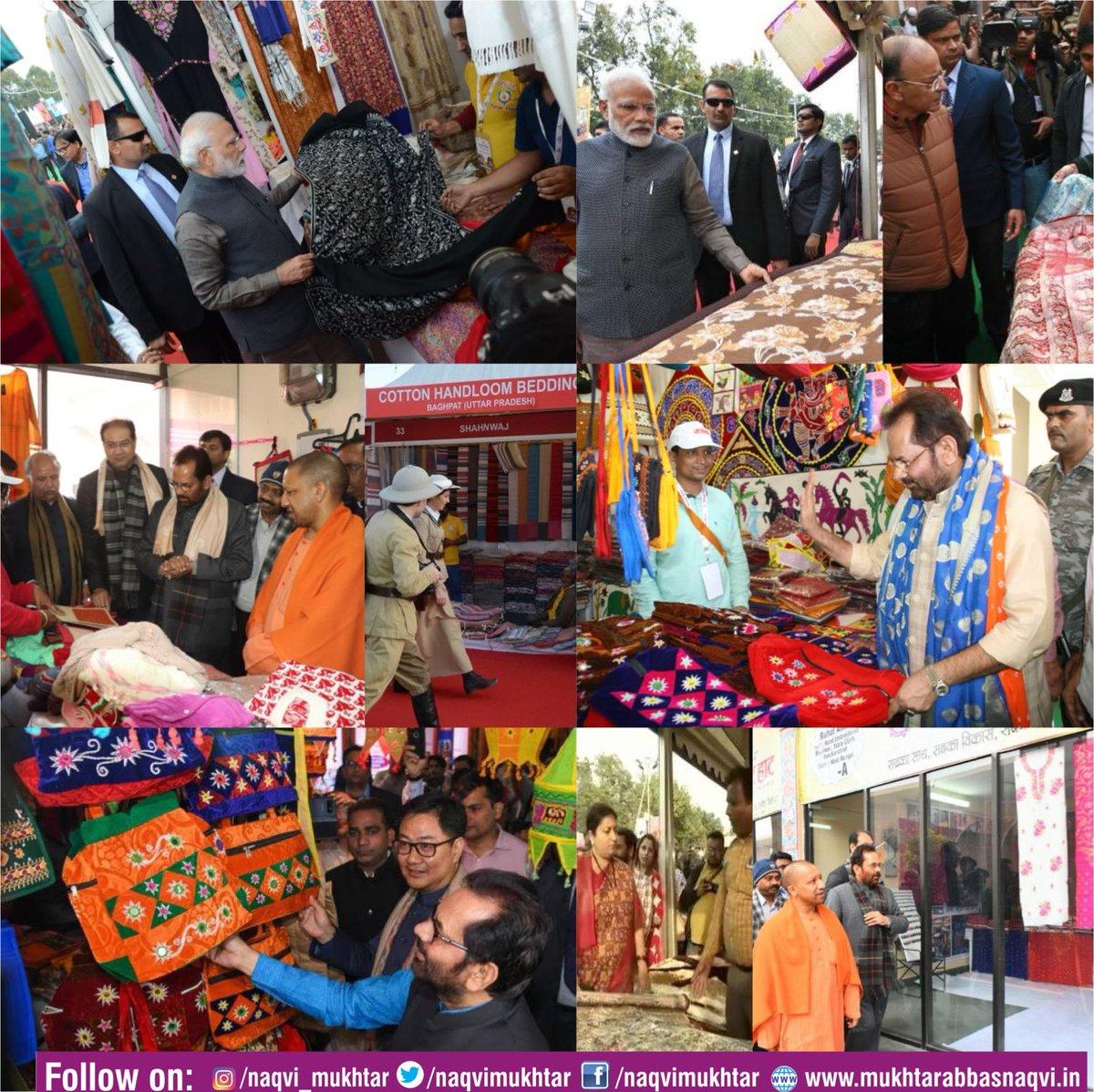 "#HunarHaat an effective & credible platform to make the country's handloom weavers, artisans as ""Self-reliant"". Warm greetings to weavers & artisans on #NationalHandloomDay #Vocal4Handmade #AatmaNirbharBharat"