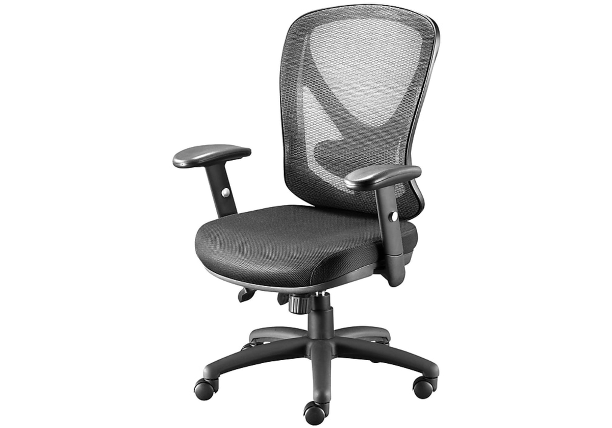 Now Only $89.99 + Ships Free!  Mesh Back Fabric Desk Chair:   (Reg $200)