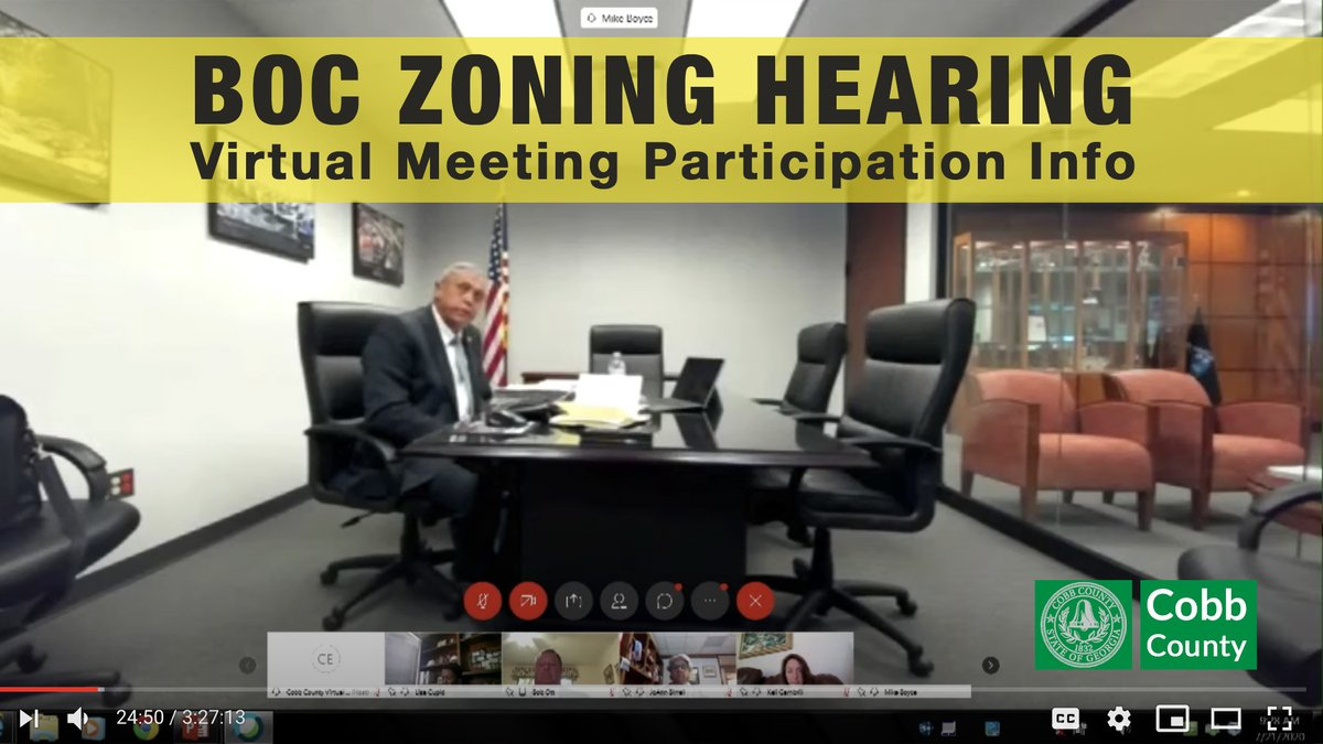 MEETING UPDATE - The Board's Zoning Hearing next Tuesday will be a virtual meeting.  Information on how you can participate can be found at: