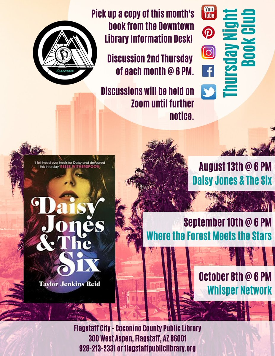 Thursday night book club meets tonight! Hope to see you there!
