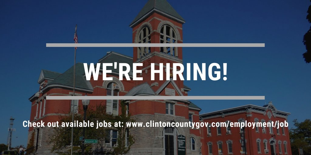 The Clinton County Health Department is currently seeking applications for Director of Health Care Services. For details and to complete an application, visit .